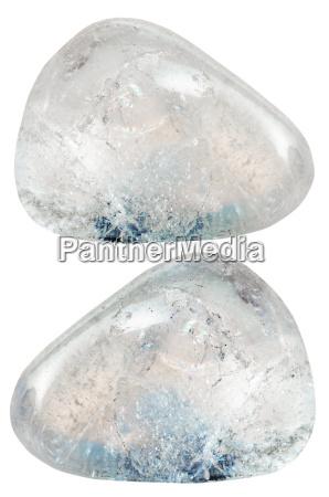 two rhinestone rock crystal gemstones