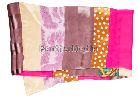 patchwork silk scarf from narrow cloth