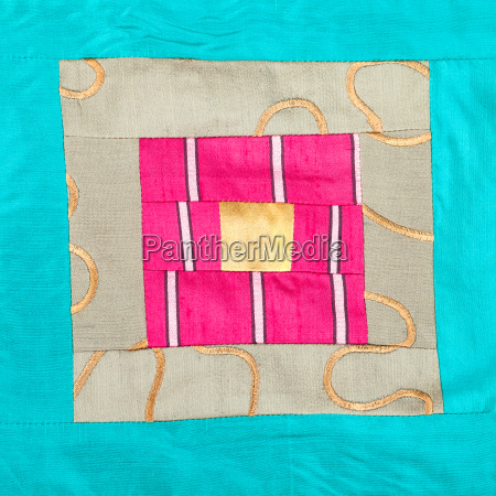 square ornament of patchwork cloth