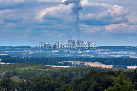 nuclear power plant temelin in czech