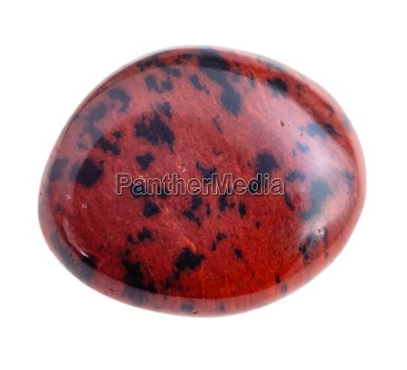 mahogany obsidian gemstone tumbling isolated