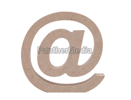 e mail symbol on white background
