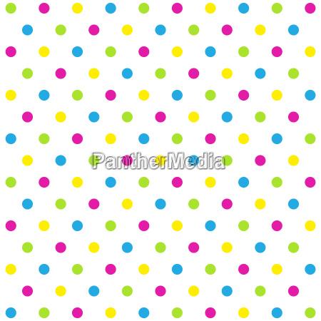 dot pattern white colorful