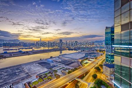 hong kong kowloon sunset