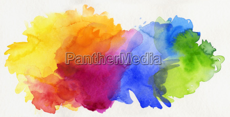 watercolor rainbow exempted abstract