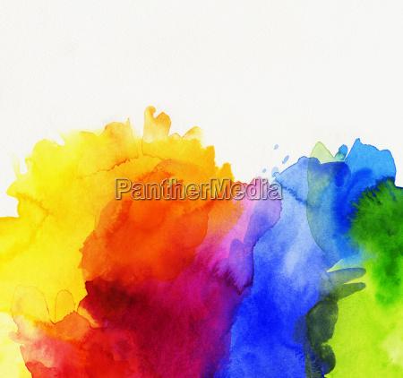 watercolor abstract rainbow