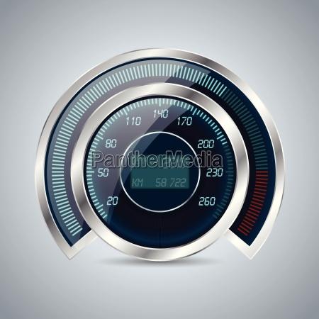 fully digital speedometer rev counter