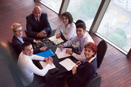 business people group on meeting at