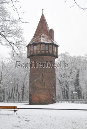 hanover doehrener tower in winter