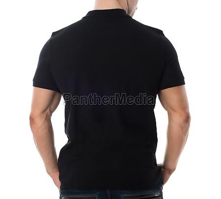 rear view of man in black