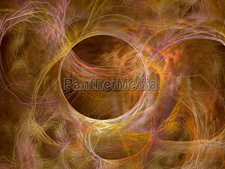abstract digitally generated image chaos curves