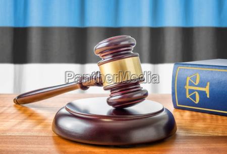 gavel and law book estonia