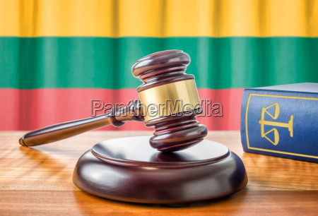 gavel and law book lithuania