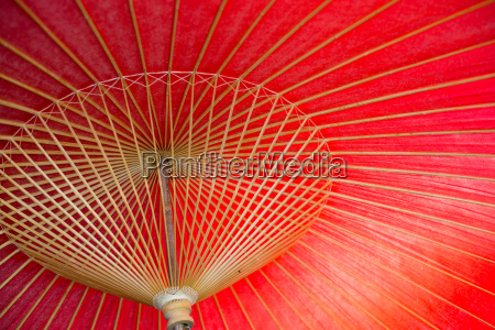japanese red bamboo umbrella