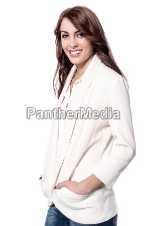 young woman posing stylishly