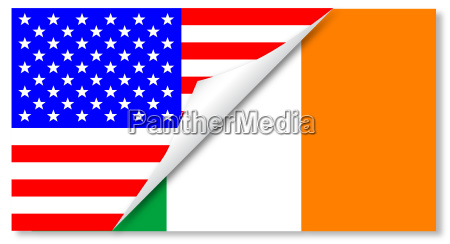 united states and eire flags combined