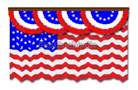 stars and stripes flag and bunting
