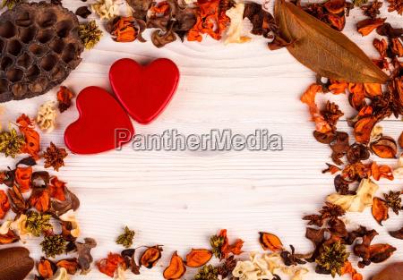 valentines day background with orange brown