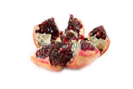 juicy pomegranate fruit isolated