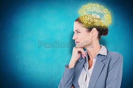 composite image of businesswoman smiling