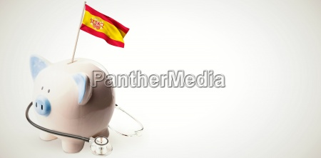 composite image of digitally generated spain