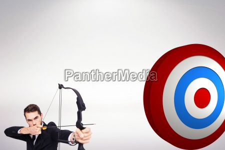 composite image of smart businessman practicing