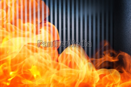 composite image of fire