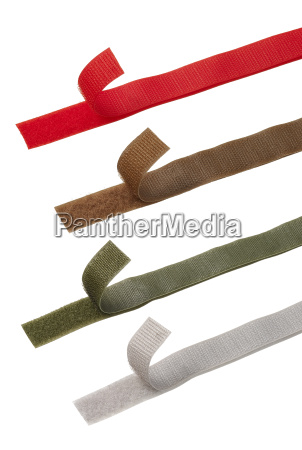 colorful power grips or velcro strips