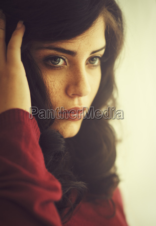 natural pretty woman with sensual charisma