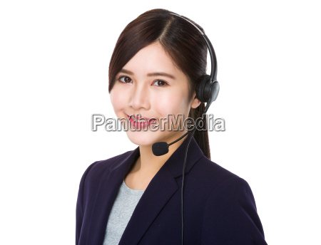 professional customer services receptionist
