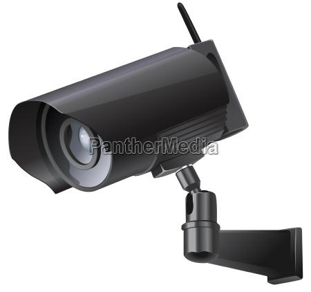 video surveillance sign cctv camera