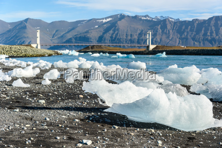 scenic view of icebergs in glacier