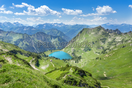 seealpsee in the mountains of the