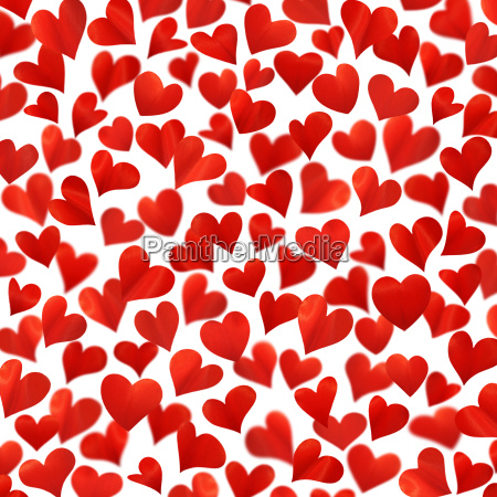 background with red hearts in 3d