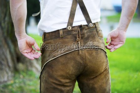 backside of a bavarian man
