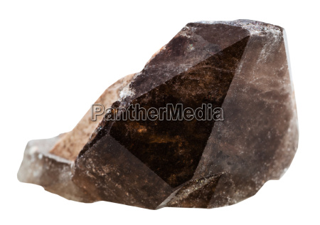 morion smoky quartz mineral crystal isolated