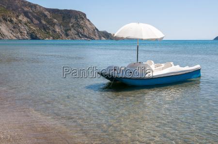 pedalo at the beach on zakynthos