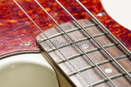 bass guitar close up