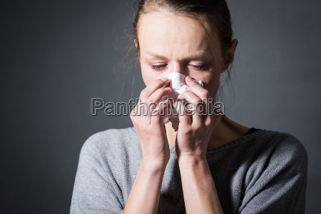 young woman suffering from severe depressionanxietysadness