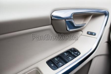 modern car interior detail