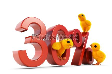 chick 30 percent