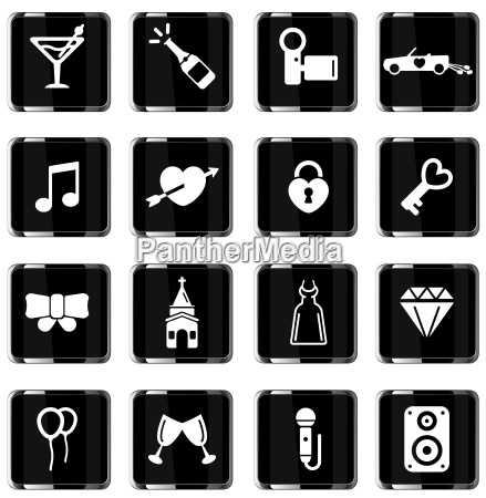 wedding simply icons