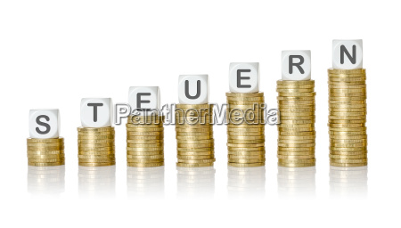 muenzstapel lettered cubes taxes