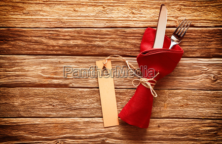 rustic colorful red christmas place setting