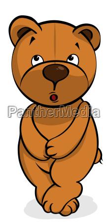 self conscious plush bear