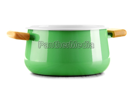 steel pot isolated on white background