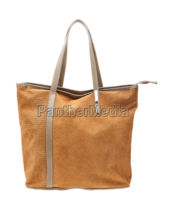brown womens bag isolated on white