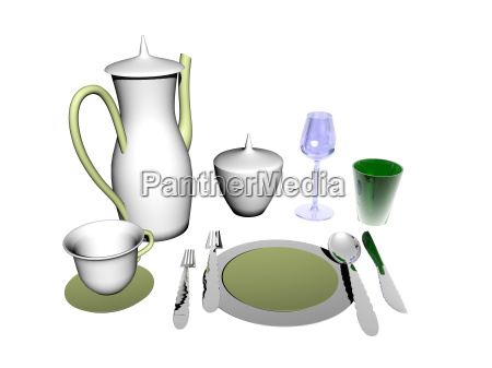 dishes porcelain coffee pot exempted