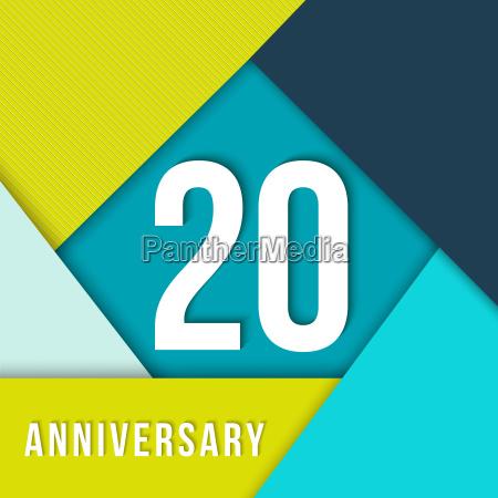 20 year anniversary material design template