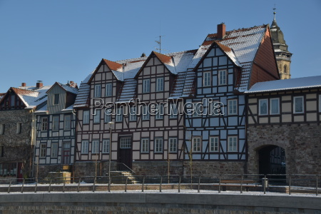 half timbered house in hann muenden
